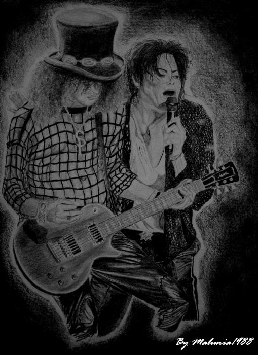 Slash, Michael Jackson by Malunia1988